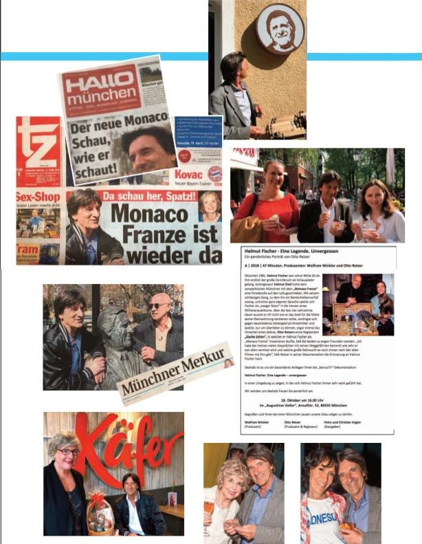 Presse-Collage zu Monaco-Franze-Double